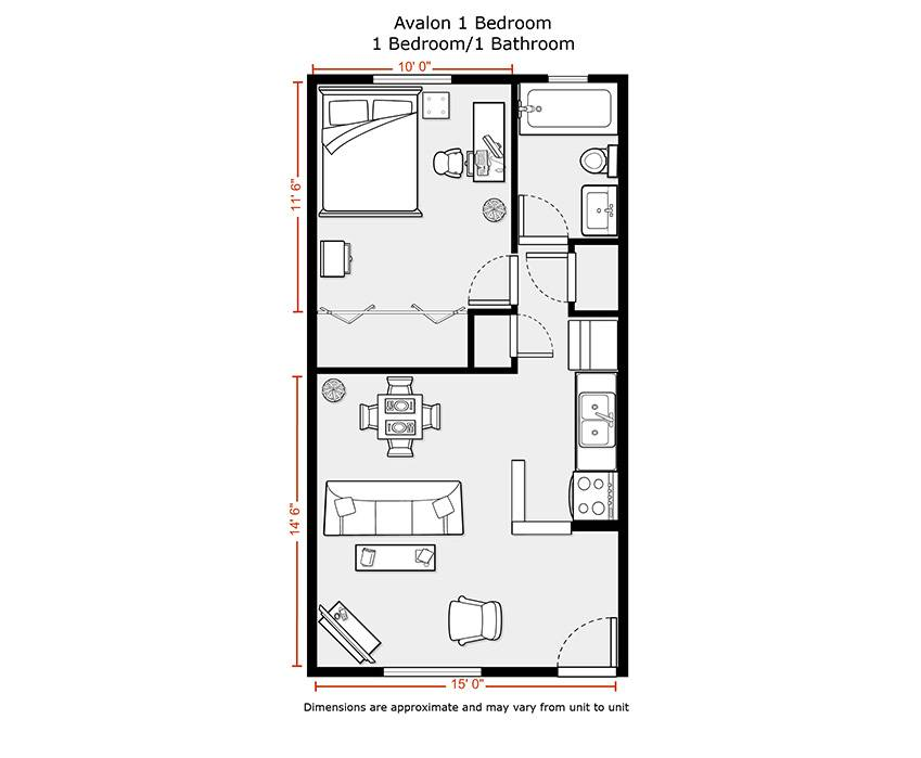 How Big Is 500 Square Feet Apartment 500 Sq Ft Floor Plan