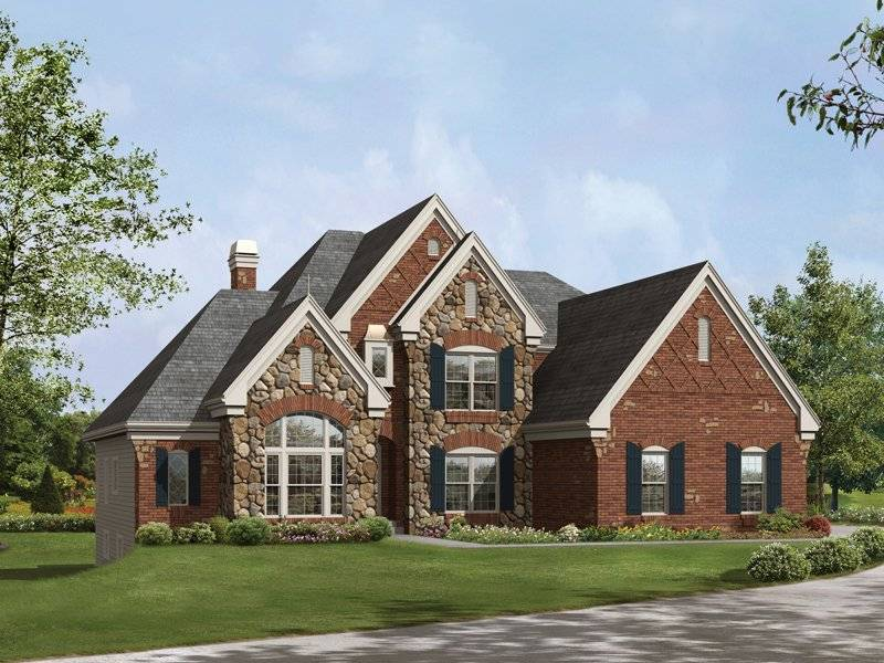 Surprising French Country Stone Brick Homes Luxurious One Story Home House Largest Home Design Picture Inspirations Pitcheantrous