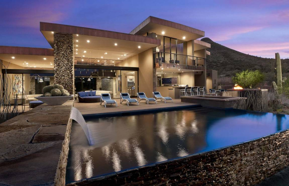 ^ ward Winning Modern Luxury Home rizona Sefcovic esidence ...