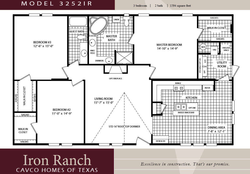 Double Wide Floor Plans 2 Bedroom 3 Bedroom Double Wide