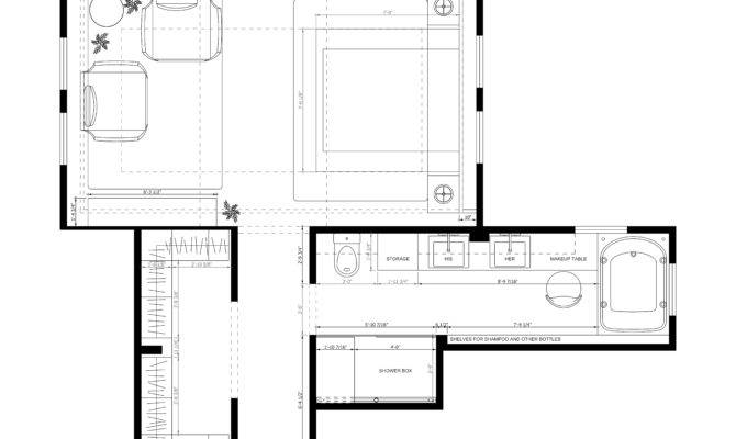 Master Bathroom Dimensions