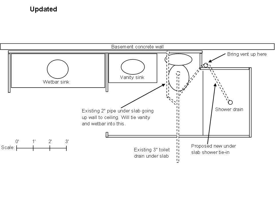 bathroom plumbing plan basement floor house plans 26890