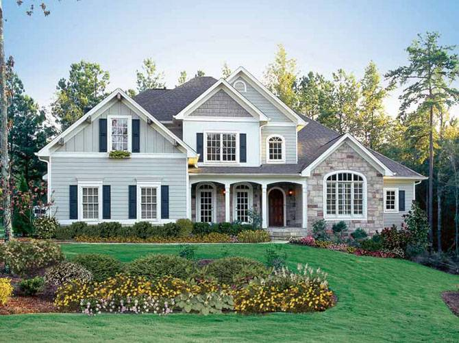 Beautiful American House Design Style Home Designs 122498 Beautiful American House Design Style Home Designs House Plans