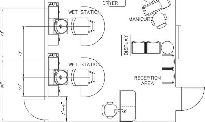 Beauty Salon Floor Plan Design Layout Square Foot House Plans