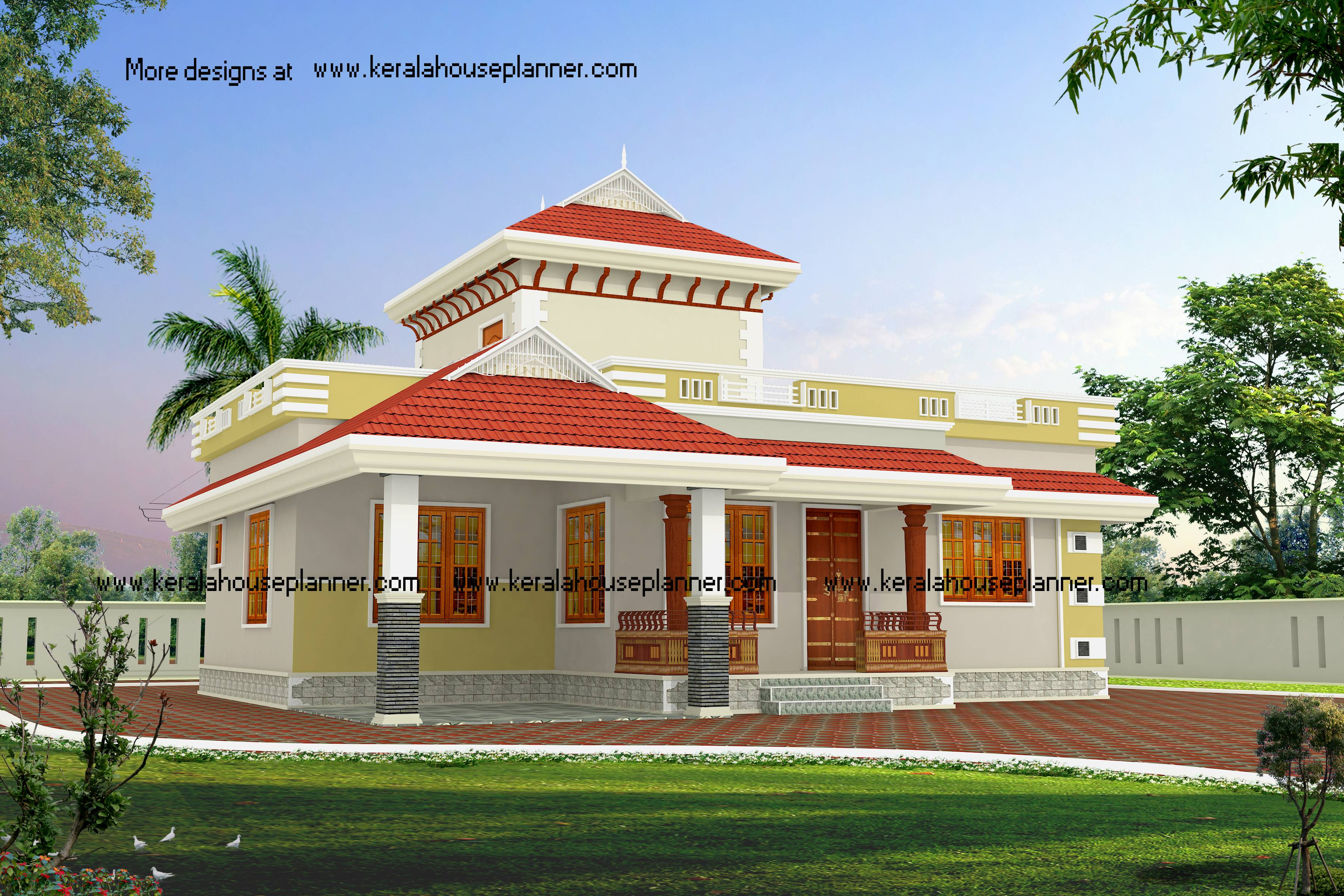 Image 1 Kerala Model House Plan Designs Kerala Style