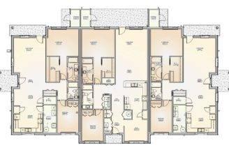 Bedroom Duplex Floor Plans Triplex Color