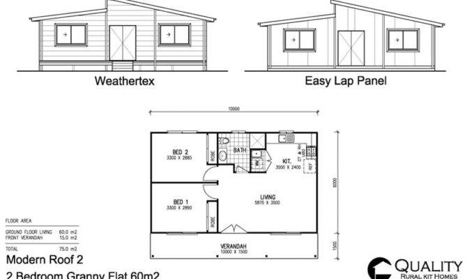 bedroom granny flat floor plan pin pinterest - house plans | #30476