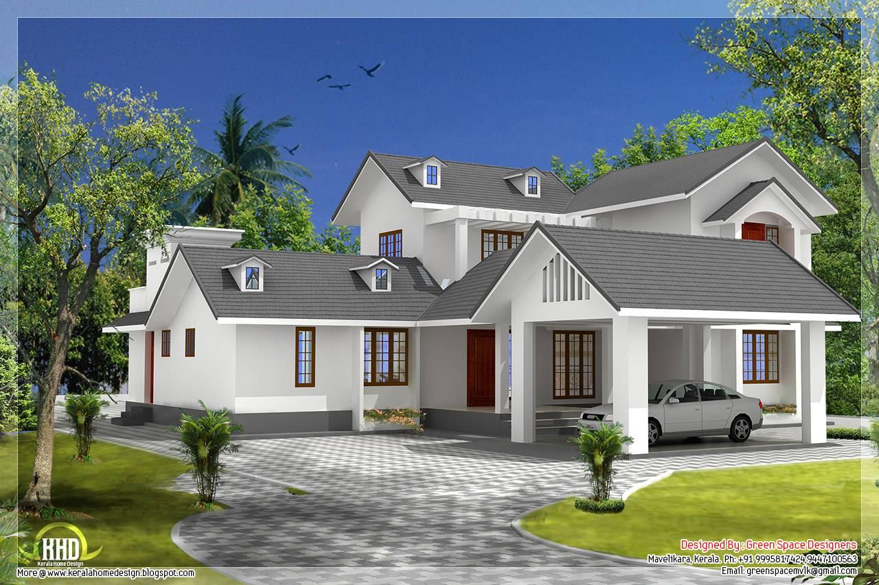 ... Gable Roof Designs Styles Bedroom House Gable Roof Type Design Kerala  Idea ...