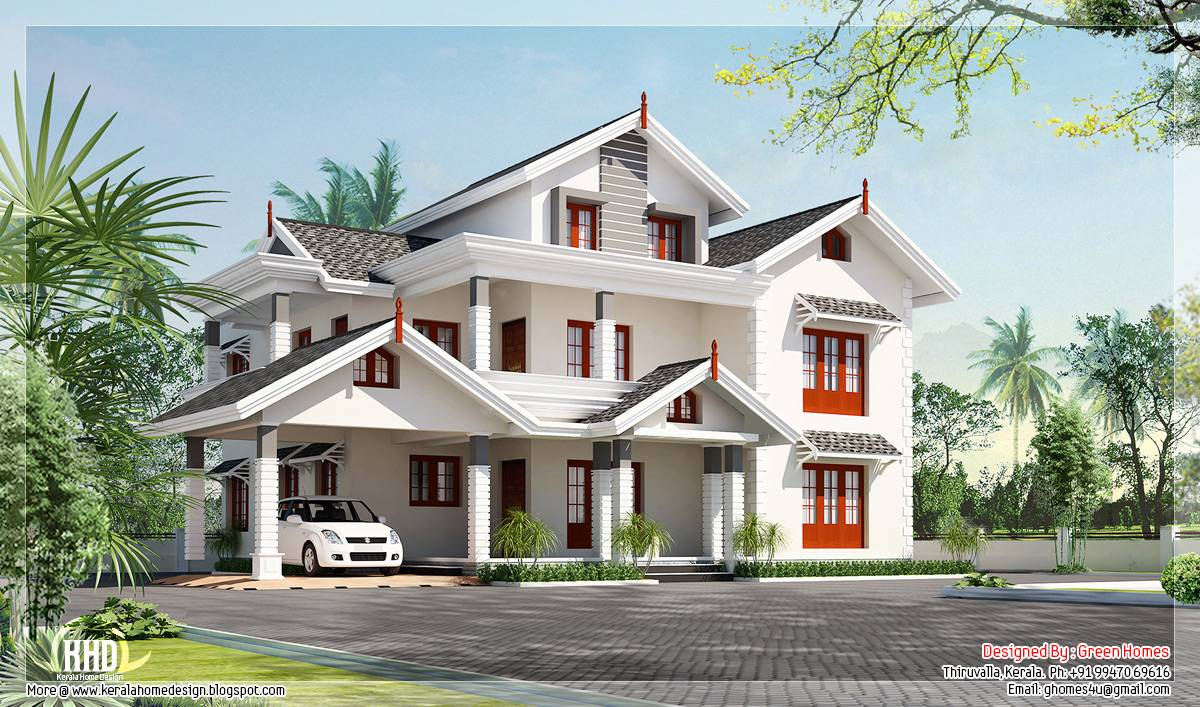 Bedroom Luxury Home Design Green Homes Thiruvalla Kerala House - Green home designs floor plans