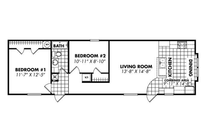 Bedroom Mobile Home Floor Plans Quotes  2 Bedroom 1 Bath Mobile Home Floor  Plans Ideas. 2 Bedroom 2 Bath Mobile Home   AmkoSystems com