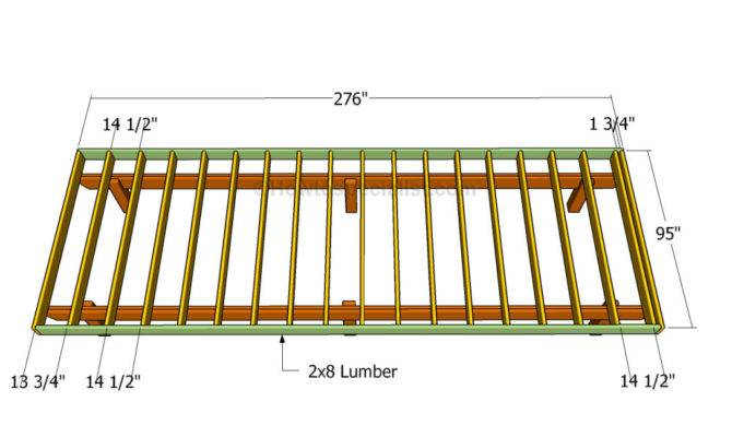 building deck frame