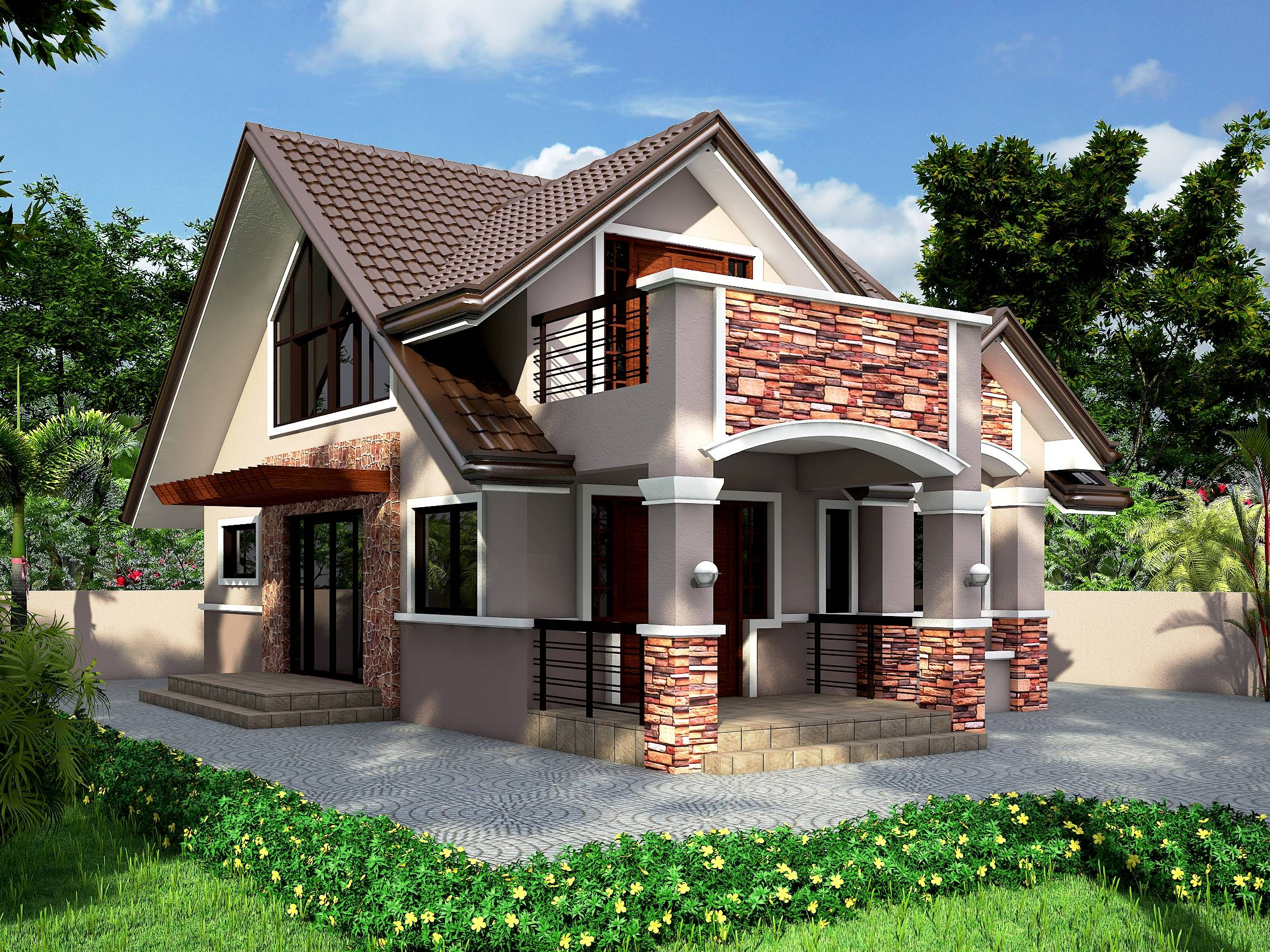 Bungalow house designs attic design top