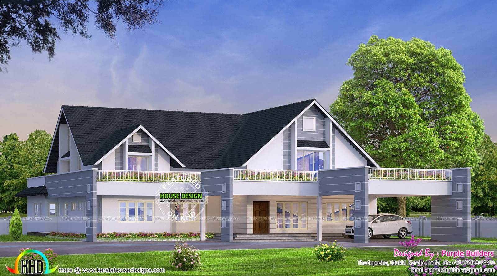 Bungalow kerala home design floor plans house plans 71806 for Home designs in kerala