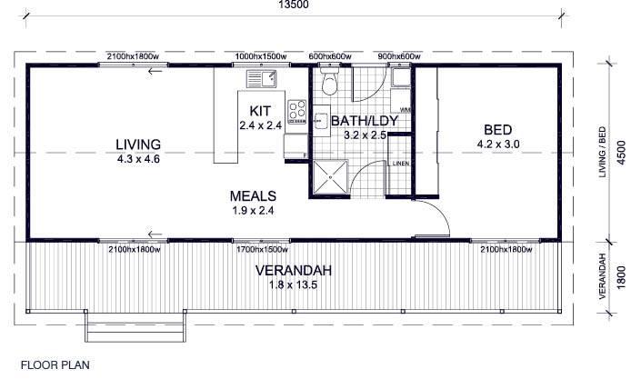 12x40 House Plans