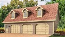 Cape Cod Style Three Car Garage Apartment Triple Dormers