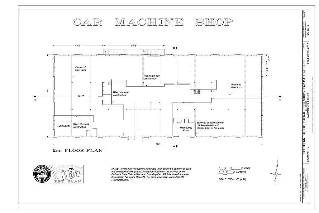 Car Machine Shop Floor Plan Southern Pacific Sacramento