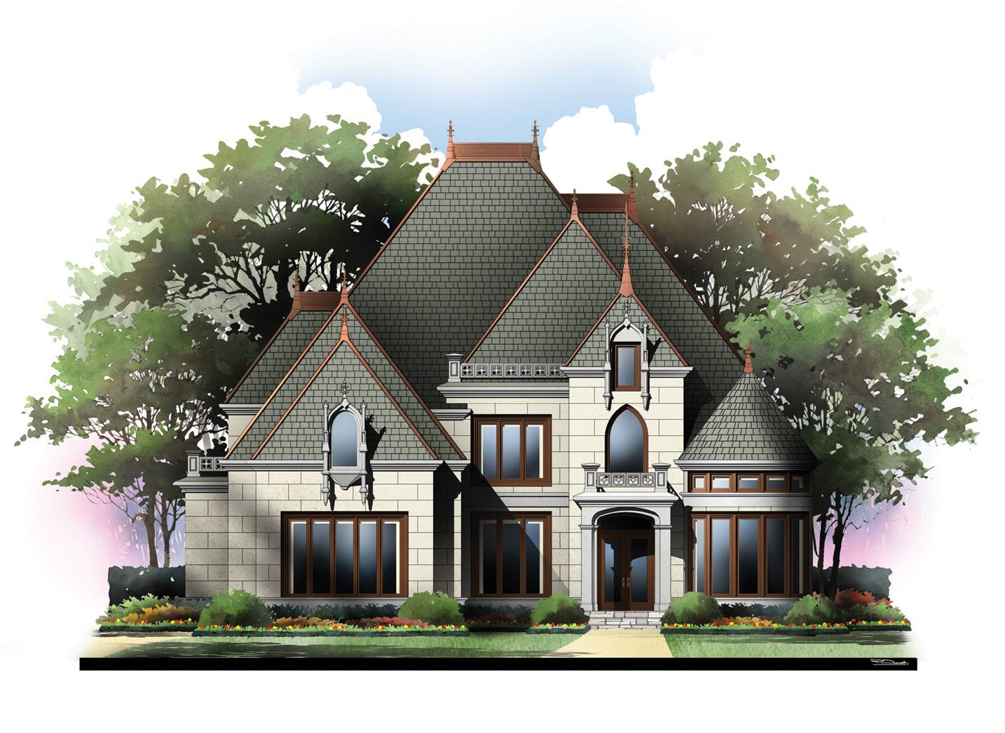 eplans european house plan french chateau square feet - house