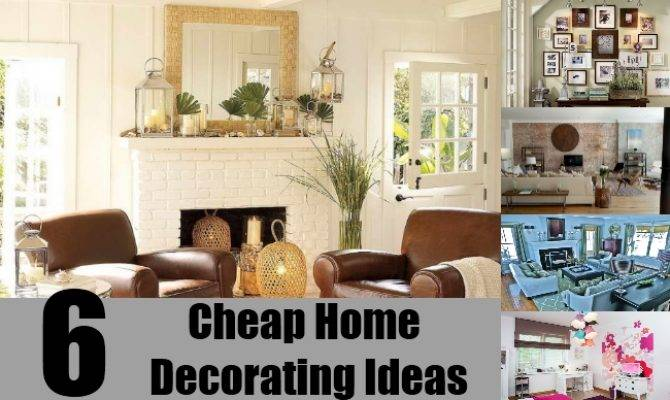 Cheap ideas for decorating house