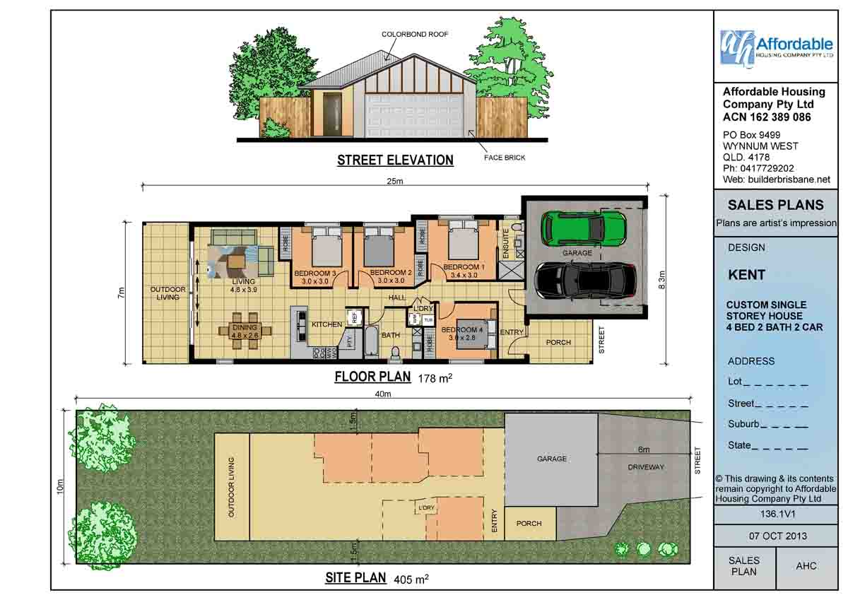 Small lot house plans modern house Narrow lot homes single storey