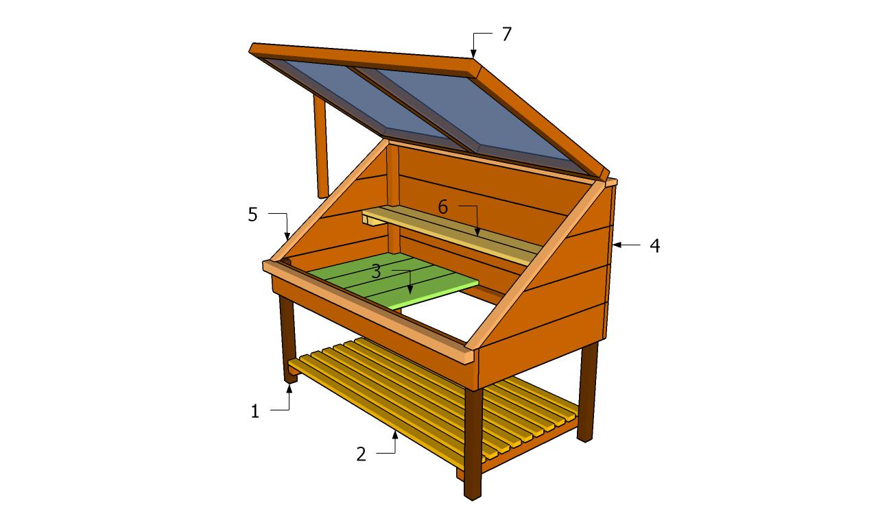 build a cold frame with lightweight lid vegetable gardener