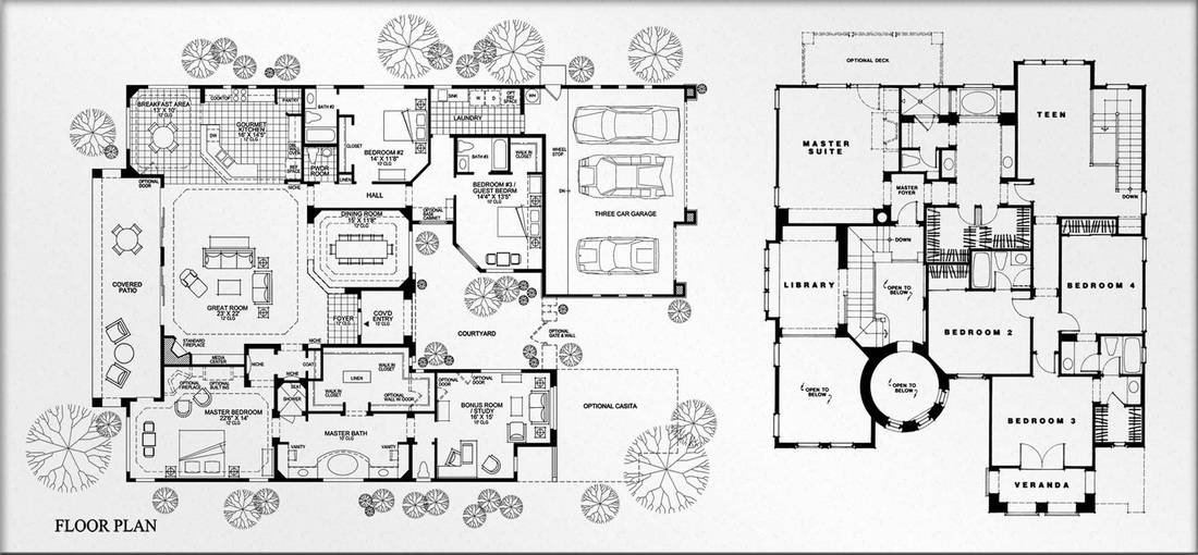 Color Floor Plans Elevations Great House Plans 75193