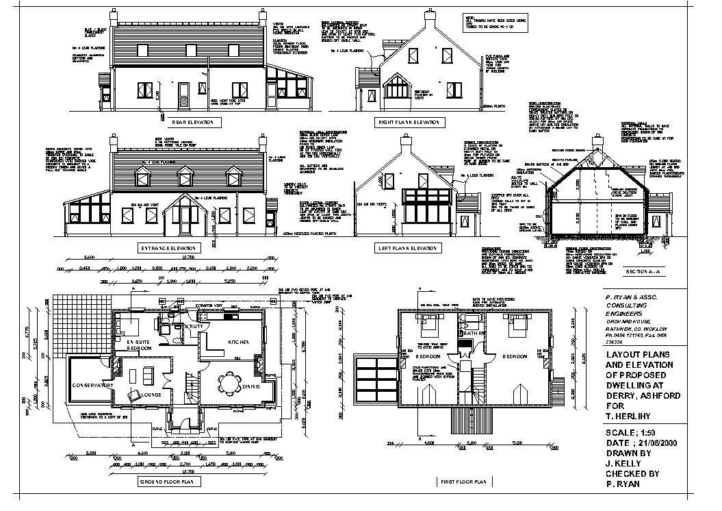 onstruction Drawings - House Plans #46537 - ^