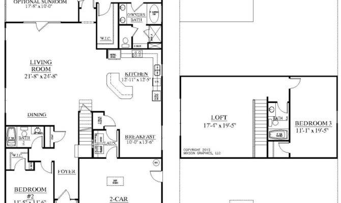 One Story Floor Plans With Two Master Suites
