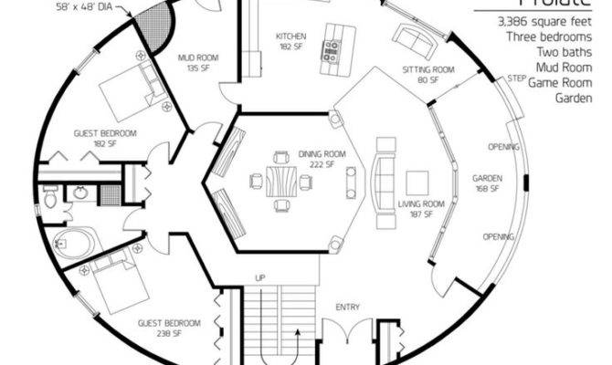 Cordwood Round Home Floor Plan Cob Houses Pinterest House Plans