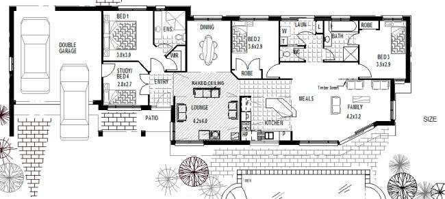 Small Corner Block Homes Designs House Design Ideas