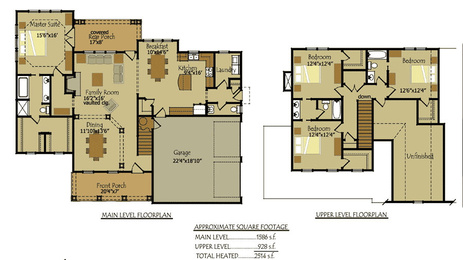 cottage style homes floor plans - Cottage Floor Plans