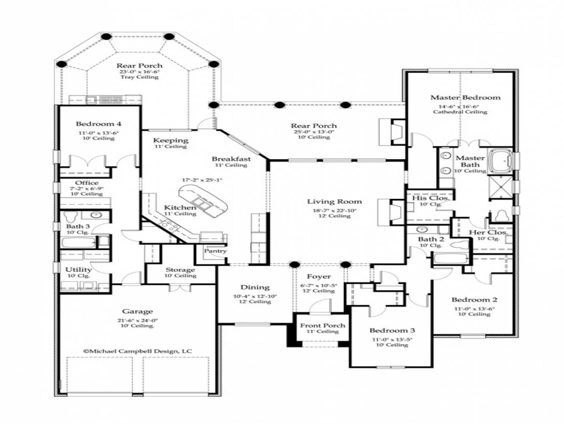 ountry Home Floor Plans French ile Mansion - House Plans  #65899 - ^