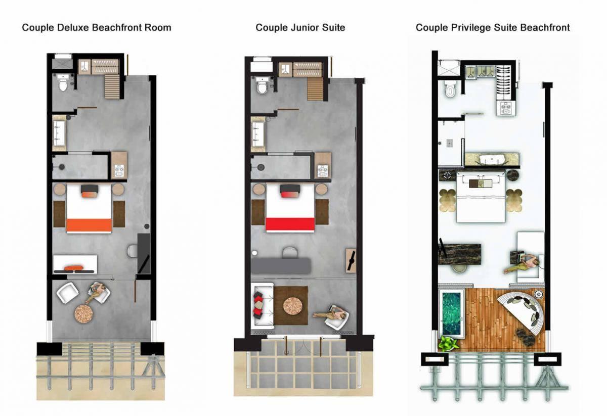 Couple Room Plan Zilwa Attitude Hotel Mauritius - House ...