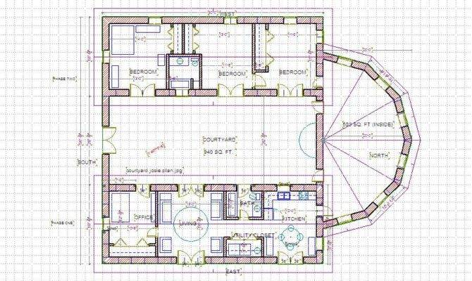 17 Genius Home Plans With Courtyard House Plans 56685