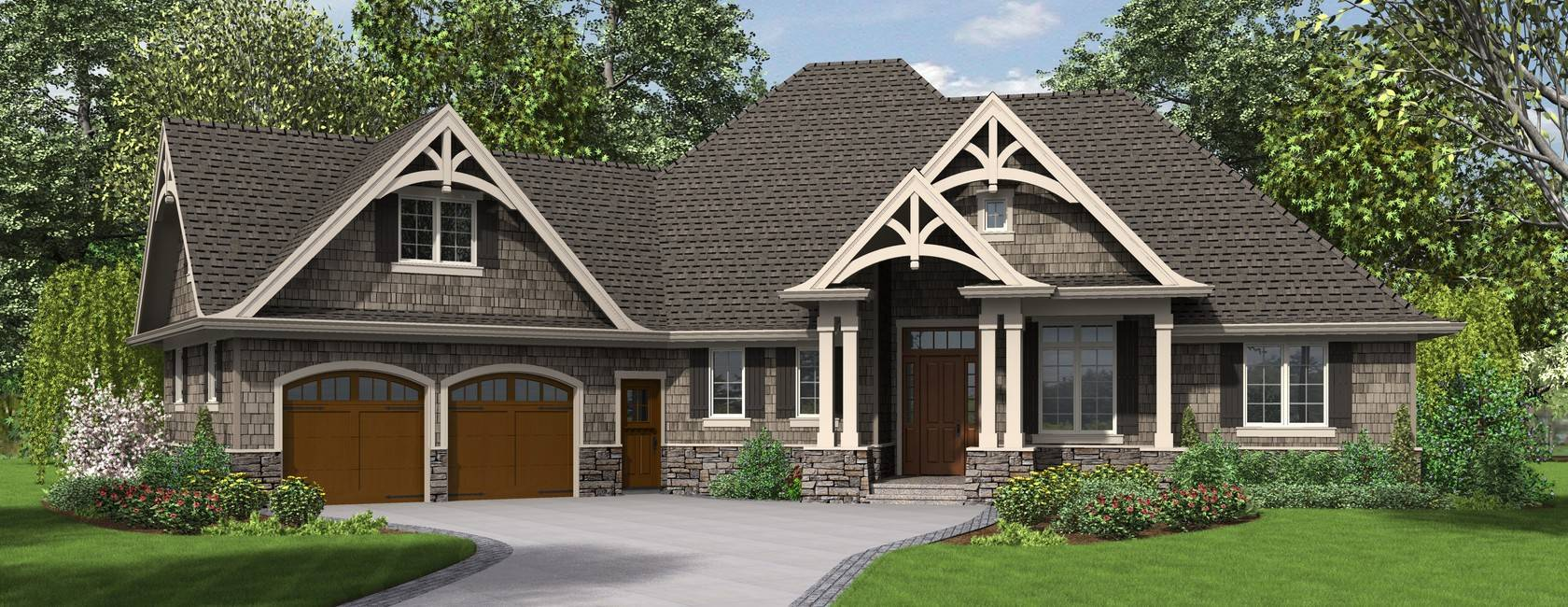 craftsman house plan ripley house plans 25360