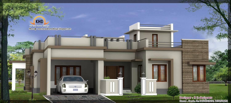 reative simple house designs single floor levation house plans - Single Floor House Plans