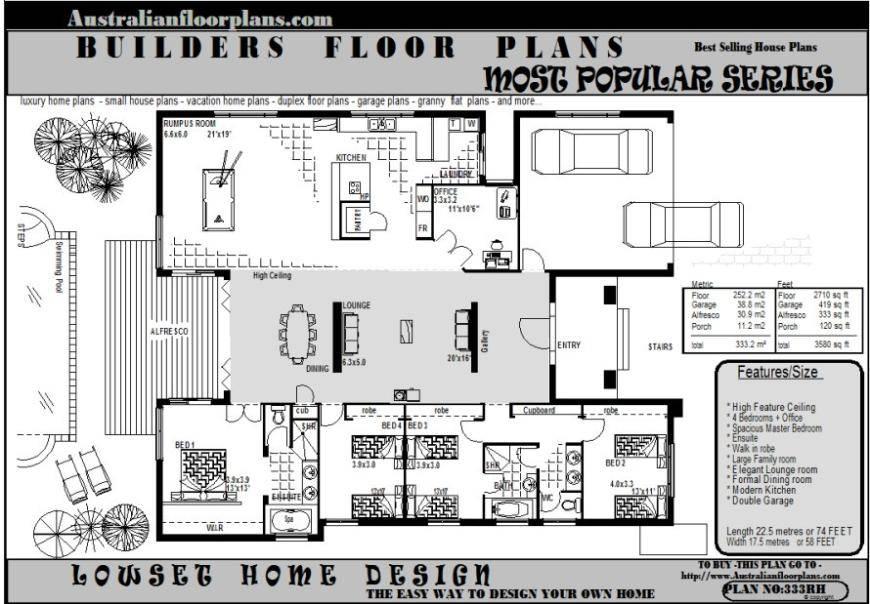 Custom Golf Course Homes Floor Plans Over House 102992 Hgtv Dream Home Floor Plan House Plans 20591