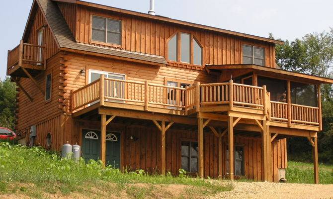 The 18 Best Two Story Log Cabins House Plans 21381