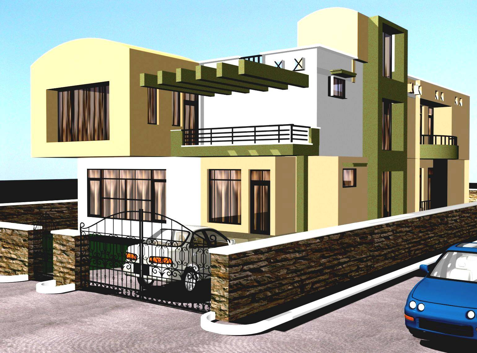 new house plan designs modern house - Home Design In India