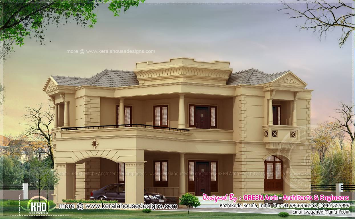 Different house elevation exterior designs home kerala for Various house designs