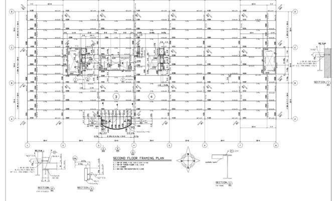 drawings second floor framing plan house plans 61790