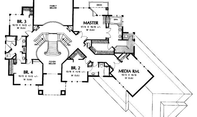 Double staircase foyer house plans House interior