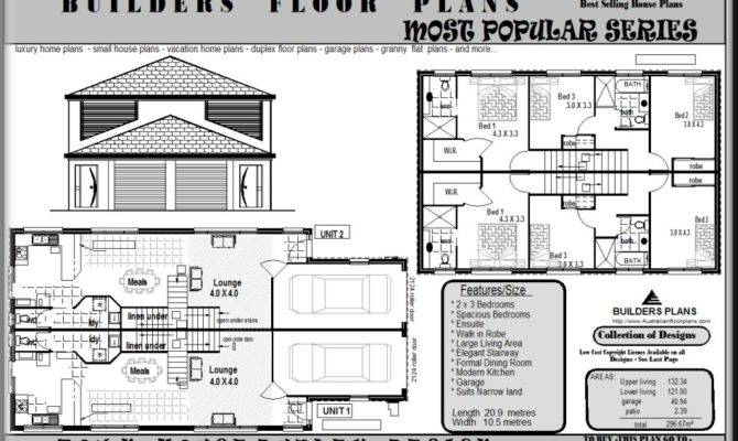 Duplex Floor Plans House Plan Shop House Plans 59161