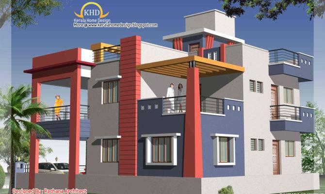 30 Unique Duplex House Plans With Elevation House Plans