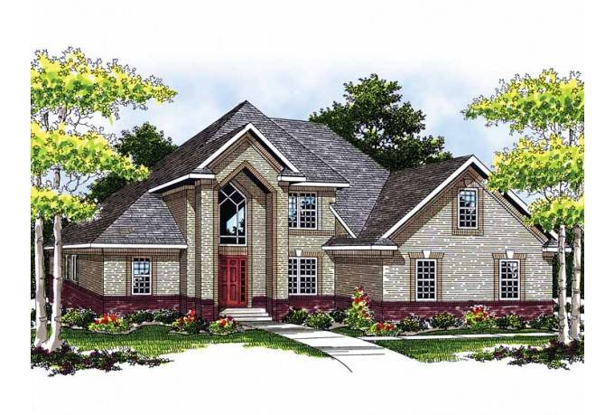 Eplans New American House Plan Brick Stucco Home Square House
