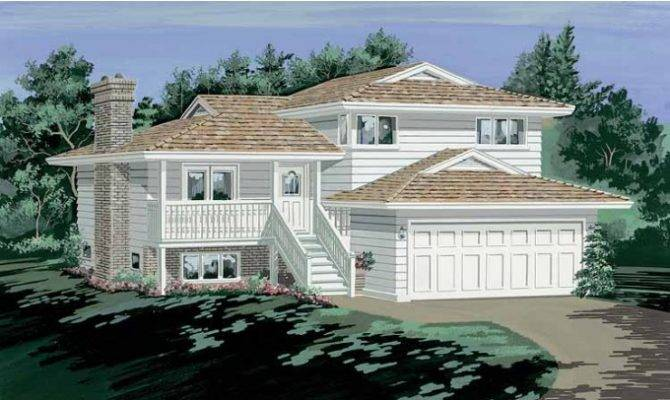9 fresh split level house with front porch house plans for Medium house plans