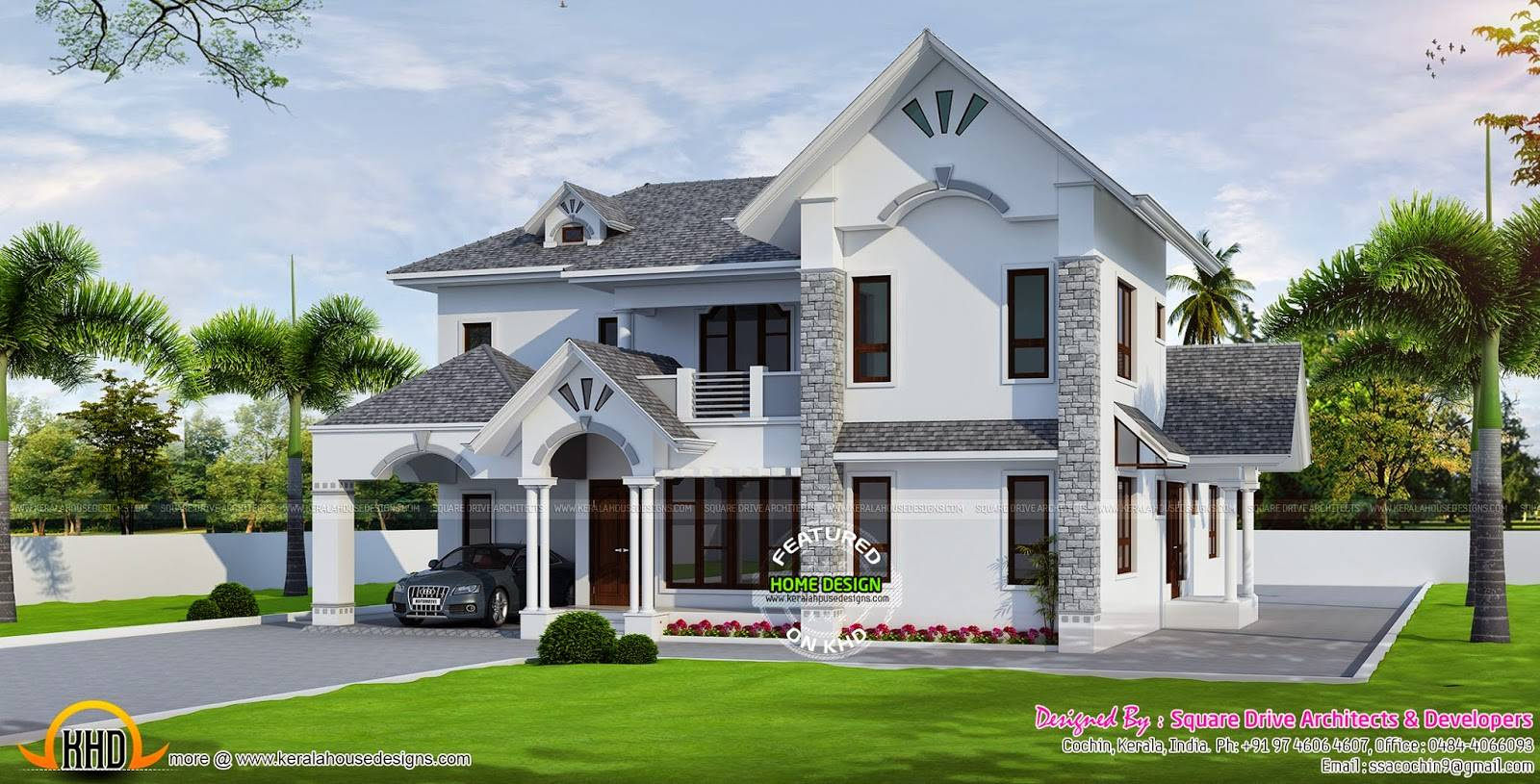 European style modern house kerala home design floor plans