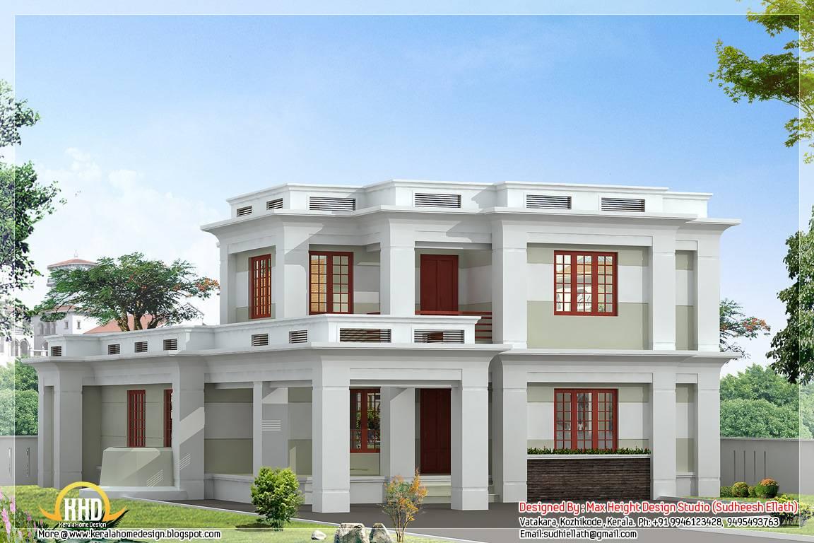Flat Roof Modern Home Design Kerala House Plans