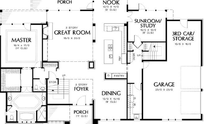 house plans with two master suites one story