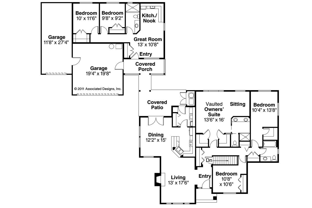 House Plans With Inlaw Suite 654186 Handicap Accessible