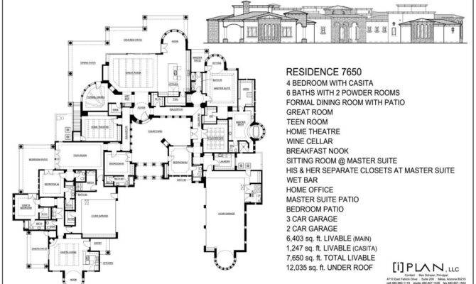 10000 square foot house plan - House plans